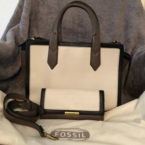 Fossil Satchel and Wallet Set